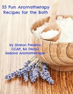 25 Fun Aromatherapy Recipes for the Baht E-Book by Sharon Falsetto